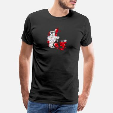Denmark map in low poly style - Men's Premium T-Shirt