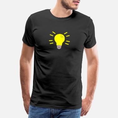 Light Bulb Light bulb turned on - Men's Premium T-Shirt