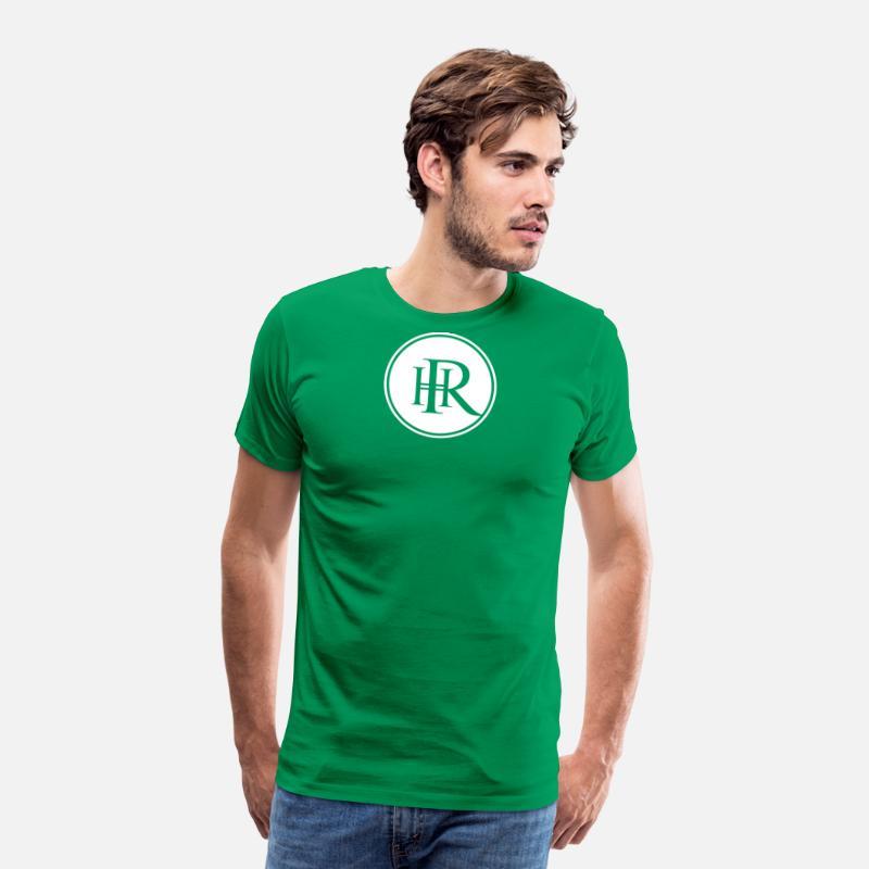 4007e0eea Imię i nazwisko jako logo monogram - HR Premium koszulka męska | Spreadshirt