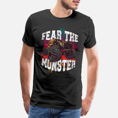 Backflip Monster Truck Diesel Motorsport - Mannen premium T-shirt