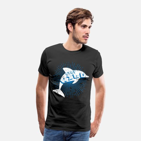 Waves T-Shirts - Dolphin Aquarium Animal Protector - Men's Premium T-Shirt black