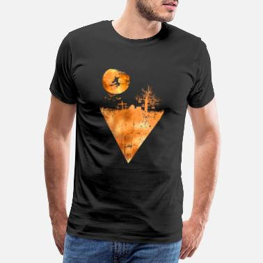 Zombie Halloween witch pumpkin - Men's Premium T-Shirt