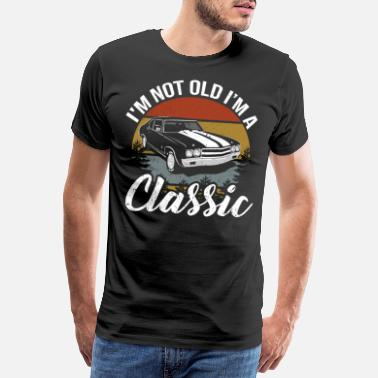 Classic Retro Classic 60th Birthday Car Lover Gift - Men's Premium T-Shirt