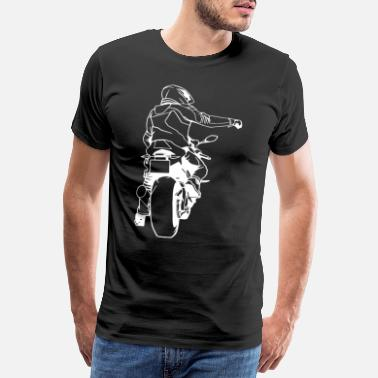 Racing Machine Motorbike bike motor scooter fire chair machine racing - Men's Premium T-Shirt
