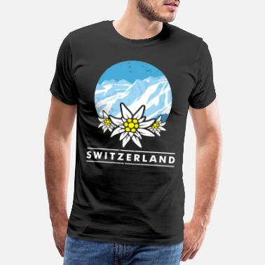 Mountain Cheese Switzerland alps confederate mountains cheese gift - Men's Premium T-Shirt