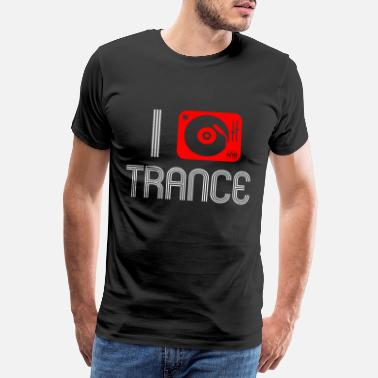 Jokey DJ trance hang up for party friends - Men's Premium T-Shirt