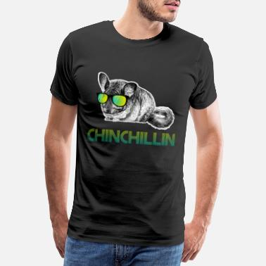 Birdman Dabbing Chinchillin Animal Lover - Männer Premium T-Shirt