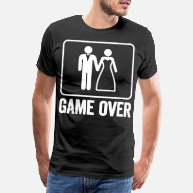 Wedding Game Over Funny Wedding Shirt Men Bachelor Party T - Männer Premium T-Shirt