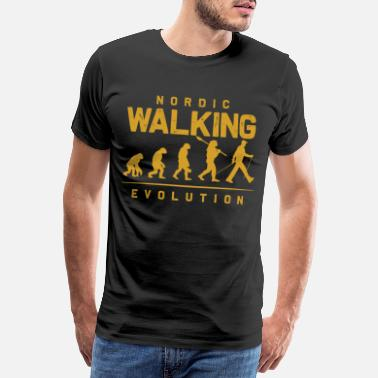 Hälsa Evolution Nordic Walking - Premium-T-shirt herr