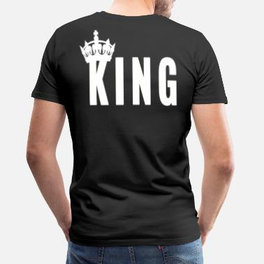 King King Couple Love Loved Husband Queen Love Queen - Men's Premium T-Shirt