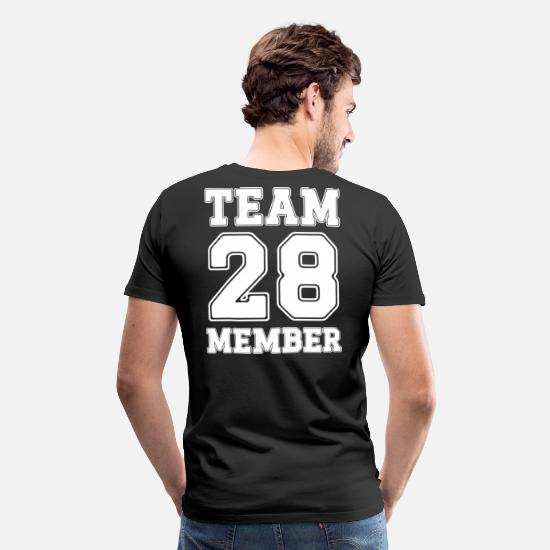 College T-shirts - Team Medlem 28 - Premium T-shirt mænd sort