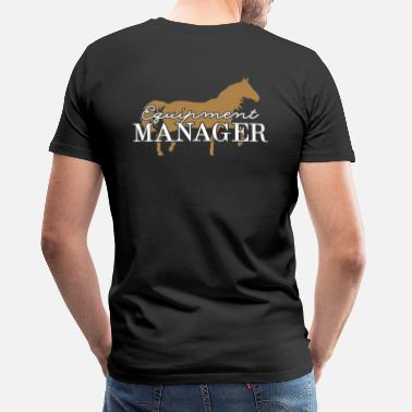 Manager Equipment Manager Pferd 2C - Männer Premium T-Shirt