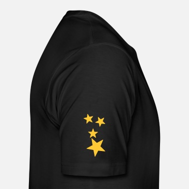 Gold Stars Star Shooting Star Gold Yellow - Men's Premium T-Shirt
