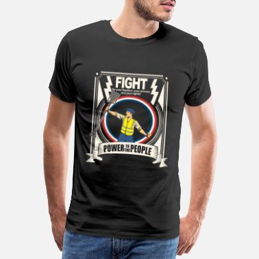 Rebellion Power to the people Yellow vest - Rebeltive design - Mannen premium T-shirt