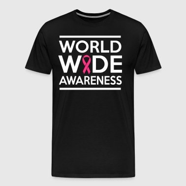 World Wide Awareness Ribbon - Men's Premium T-Shirt