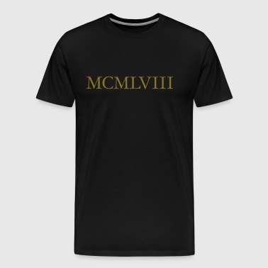 MCMLVIII 1958 Birthday Year Vintage Roman - Men's Premium T-Shirt
