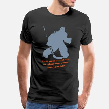 Eishockey Goalie Hockey Goalie - Männer Premium T-Shirt