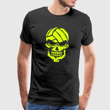 Volleyball skull water polo logo 3 - Men's Premium T-Shirt