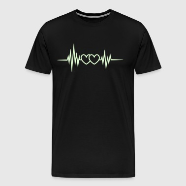 Heart rate, pulse, heartbeat, frequency, I love  - Men's Premium T-Shirt