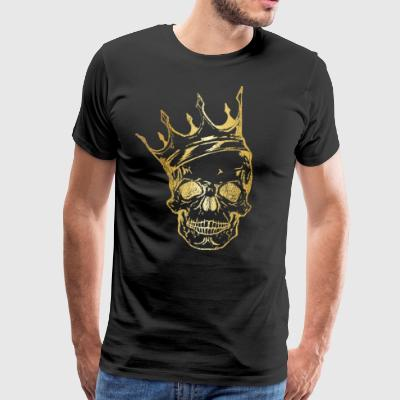 Skull Crown ◊ Gold King ◊ Skull King Gift - Premium-T-shirt herr