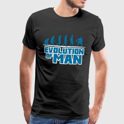 ISHOCKEY ishockeyspiller: EVOLUTION OF MAN GAVE - Herre premium T-shirt