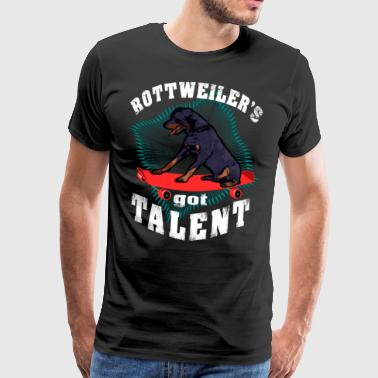 Rottweiler have talent Funny dog ​​skateboard - Men's Premium T-Shirt