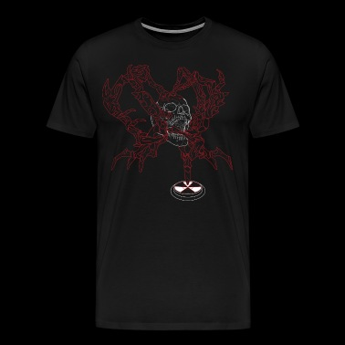 Silent Fall - Mutant in wit / rood - Mannen Premium T-shirt