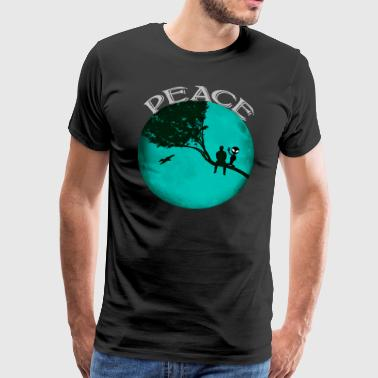 Peace Moon Alien - Men's Premium T-Shirt
