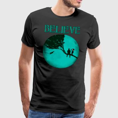Believe Alien Moon - Men's Premium T-Shirt