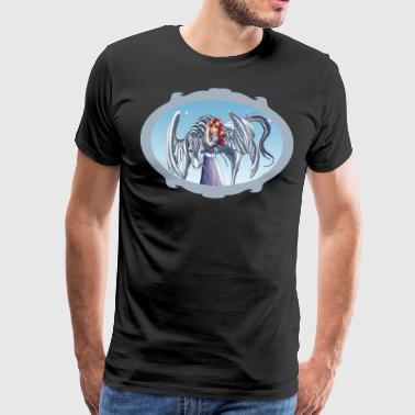 Girl and Pegasus 3 with frame - Premium-T-shirt herr