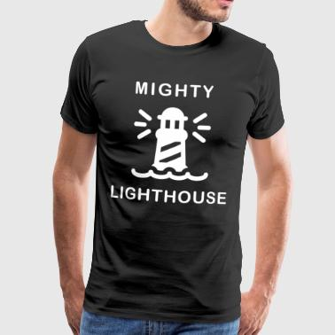 Mighty lighthouse waves leutchen beach sea - Men's Premium T-Shirt