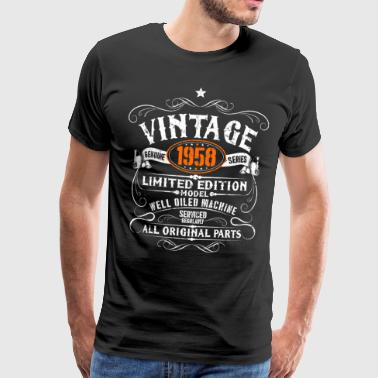 60th Birthday - Vintage 1958 Gift - Premium T-skjorte for menn