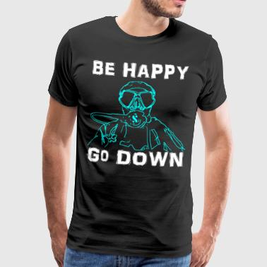 BeHappy001 - Herre premium T-shirt