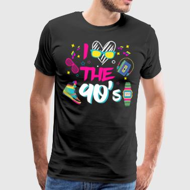 I Love the 90s / Nineties / Mottoparty / Retro / Party - Men's Premium T-Shirt
