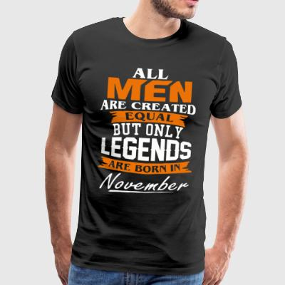 Legends zijn geboren overhemd in november - Mannen Premium T-shirt