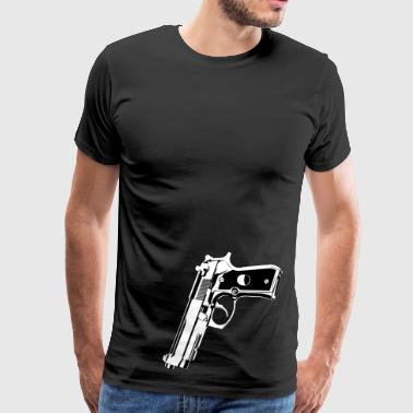 Weapon pistol revolver for gun guy and shooter - Men's Premium T-Shirt