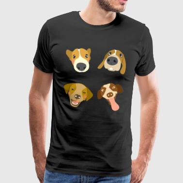 Cartoon Dogs Fun Gift - Men's Premium T-Shirt