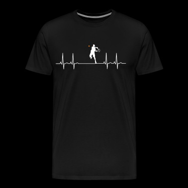 ekg tennis pulse heartbeat player match court lo - Men's Premium T-Shirt