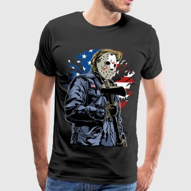 HORROR MURDER - American Halloween Gift Motive - Men's Premium T-Shirt