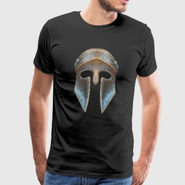 Gladiatorenhelm Low-Polygon-Effekt - Männer Premium T-Shirt