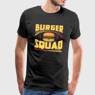 Burger Squad Cheeseburger Foodie - T-shirt Premium Homme