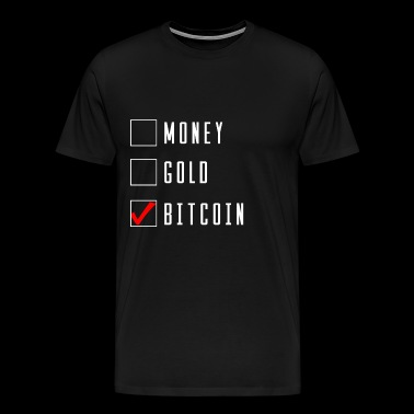 Money Gold Bitcoin currency financial crisis gift - Men's Premium T-Shirt