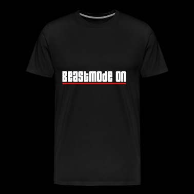 beastmode on gym training workout - Men's Premium T-Shirt