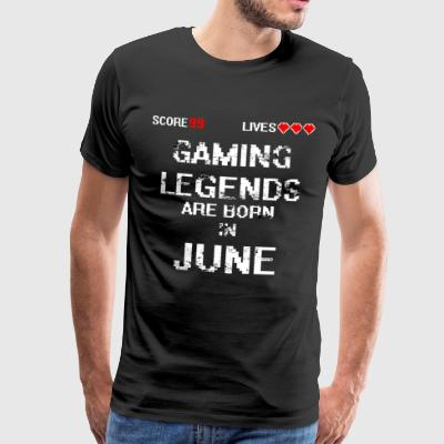 GAMING LEGENDS JUNE - Men's Premium T-Shirt
