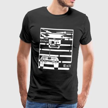 Copter drone labyrinth FPV racing shirt cool - Men's Premium T-Shirt