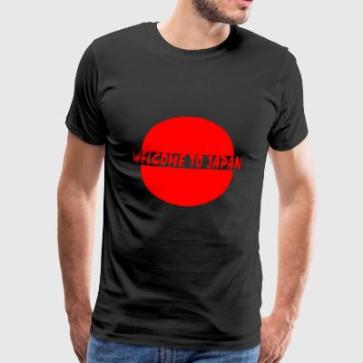 Point Monde Japon Asie simple, calligraphie Bienvenue - T-shirt Premium Homme
