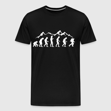 Human evolution mountaineering - Men's Premium T-Shirt
