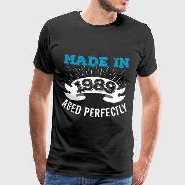 Gjord 1989 Aged Perfectly - Premium-T-shirt herr