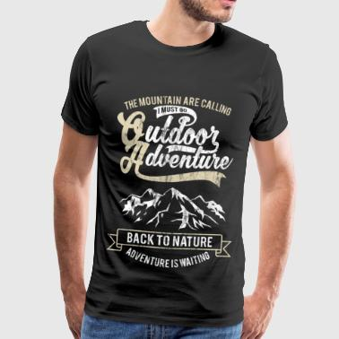 Call the mountains - Outdoor Camping Gift Motive - Men's Premium T-Shirt