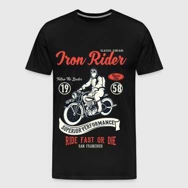 RACERS CLUB - Vintage Motorcycle and Biker Shirt - Men's Premium T-Shirt